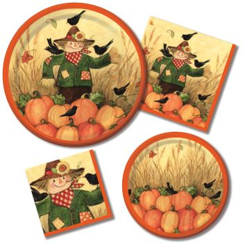 Fall Friends Paper Plates & Napkins