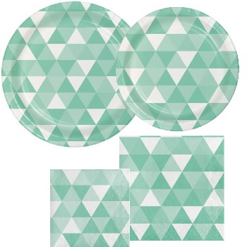 Fractal Fresh Mint Party at Lewis Elegant Party Supplies Plastic Dinnerware Paper Plates and Napkins  sc 1 st  Party at Lewis & Fractal Fresh Mint: Party at Lewis Elegant Party Supplies Plastic ...