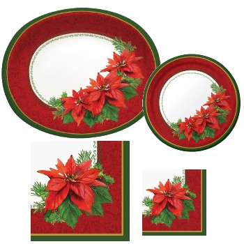Holiday Poinsettia - Party at Lewis Elegant Party Supplies ...