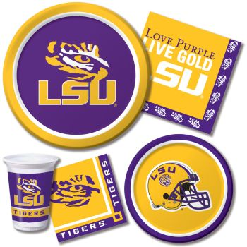 Lsu Tigers Party At Lewis Elegant Party Supplies Plastic