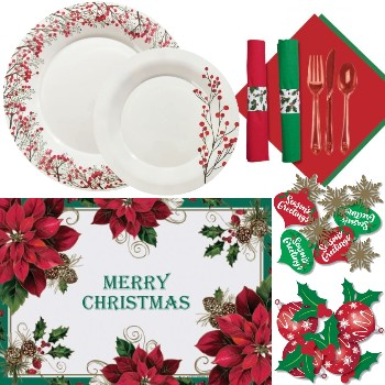 Holiday Plastic Dinnerware & Tableware