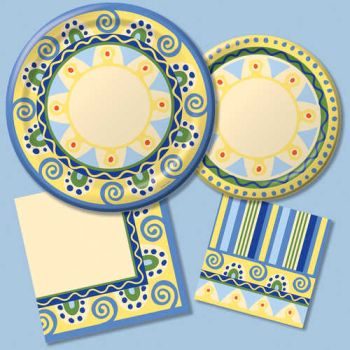 Mediterranean Pottery Paper Plates & Napkins