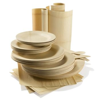 Shop for Bamboo Dinnerware  sc 1 st  Party at Lewis & Bamboo Dinnerware - Party at Lewis Elegant Party Supplies Plastic ...