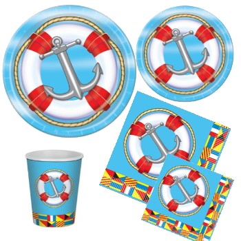 Nautical Paper Plates & Napkins