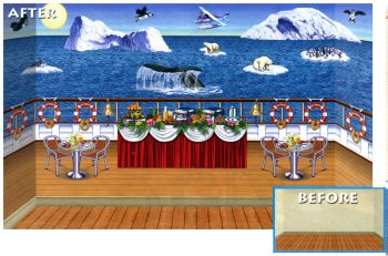 Ocean Paradise Cruise Ship Decorations