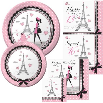 Party in Paris Birthday  sc 1 st  Party at Lewis & Party in Paris Birthday: Party at Lewis Elegant Party Supplies ...