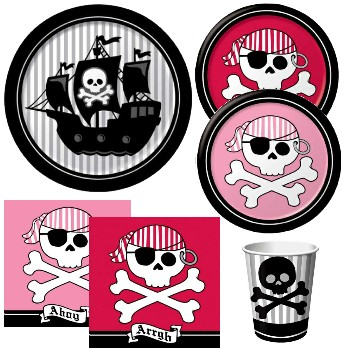 Pirate Party Paper Plates & Napkins