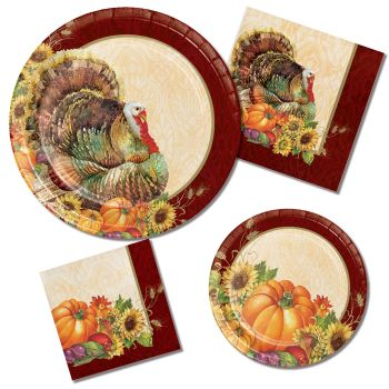 Regal Turkey Paper Plates & Napkins