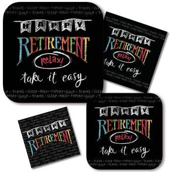 Shop for Retirement Chalk  sc 1 st  Party at Lewis & Retirement Chalk - Party at Lewis Elegant Party Supplies Plastic ...
