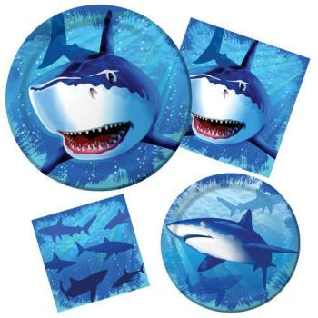 Shark Splash  sc 1 st  Party at Lewis & Shark Splash: Party at Lewis Elegant Party Supplies Plastic ...