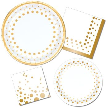 Great for Bridal Shower or Wedding Sparkle and Shine Gold  sc 1 st  Party at Lewis & Wedding \u0026 Bridal Shower - Party at Lewis Elegant Party Supplies ...