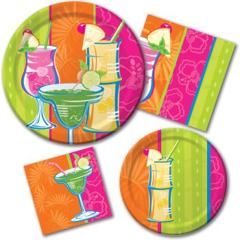 Cocktail Time Paper Plates & Napkins