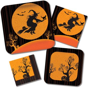 Witch's Crossing Paper Plates & Napkins