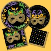 Complete Mardi Gras Selections · Mardi Gras Magic Paper Tableware  sc 1 st  Party at Lewis & Rue Bourbon - Party at Lewis Elegant Party Supplies Plastic ...